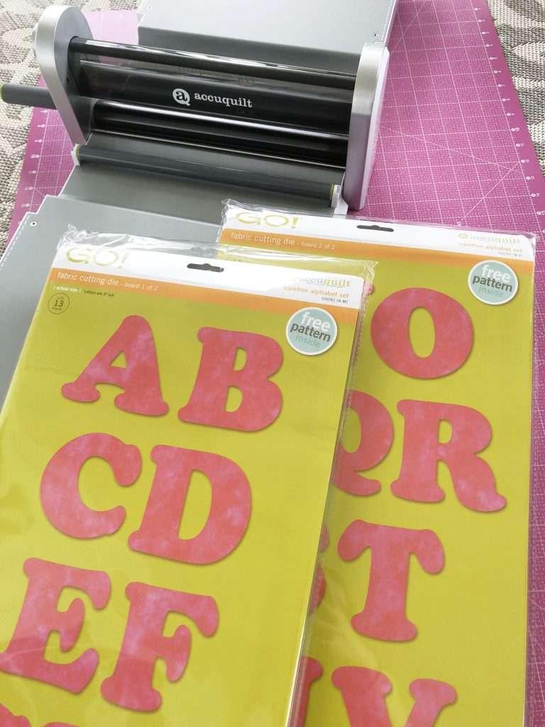 Applique carefree alphabet AccuQuilt