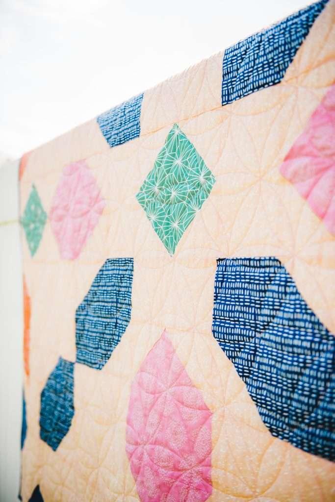 Connector Quilt Pattern, 6 color quilt, modern quilt, homemadeemilyjane, hawthorne fabrics, kaleidoscope quilt pattern,  kaleidescope quilt pattern