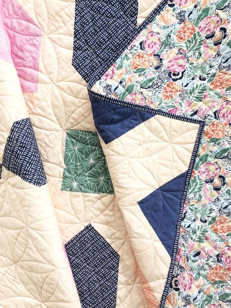 Connector Quilt Pattern, 6 color quilt, modern quilt, homemadeemilyjane, hawthorne fabrics
