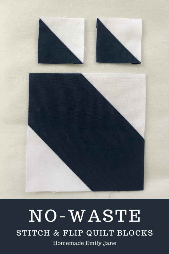 No Waste Stitch & Flip quilt blocks, Learn how to conserve fabric waste in stitch and flip blocks, flying geese quilt blocks, easy ways to reduce fabric waste, connector quilt pattern
