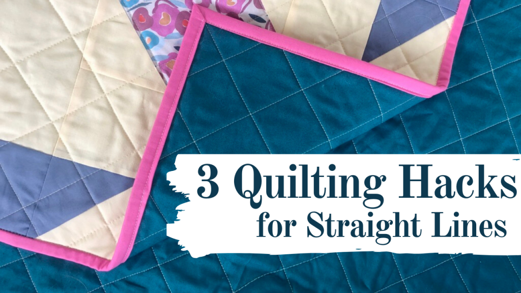 3 quilting hacks for sewing straight lines, quilting hacks for straight line quilting, learn how to quilt straight lines, how to quilt on your domestic sewing machine
