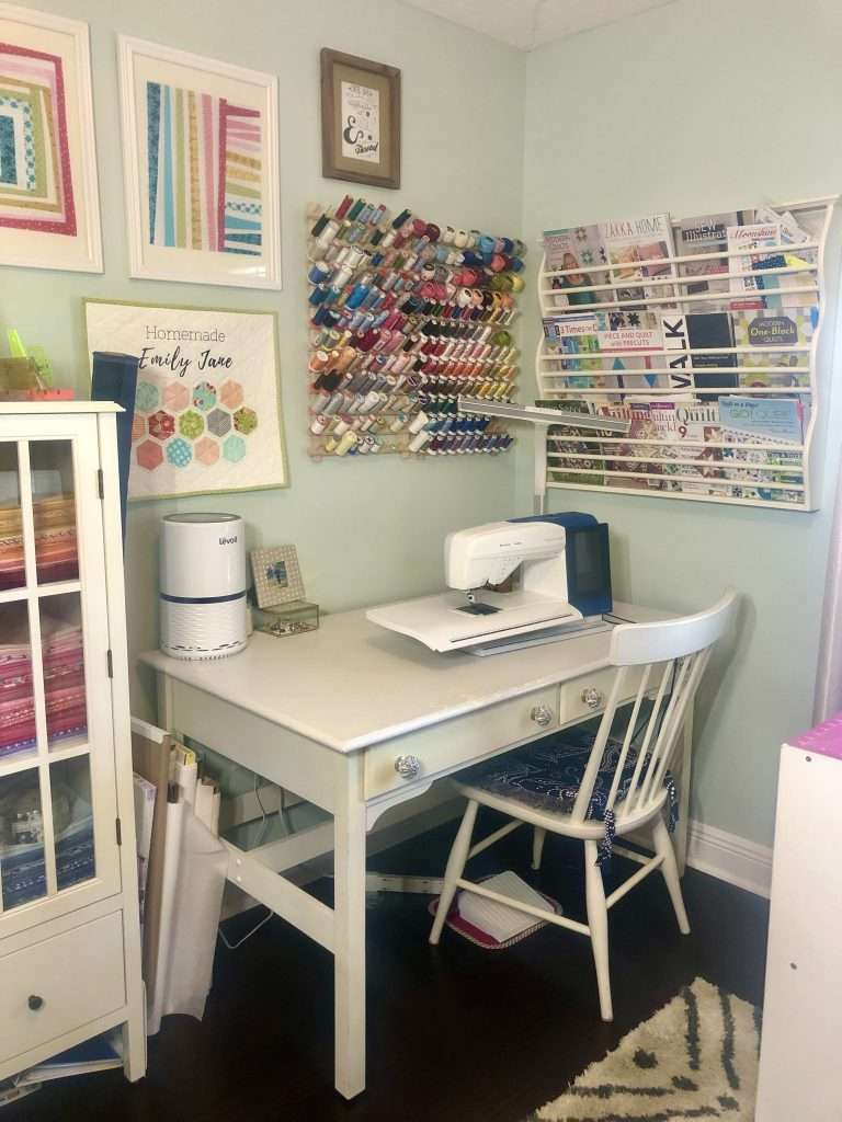 craft room organization, how to organize sewing room, craft room, how to set up a craft room, quilting room, quilting space, sewing space