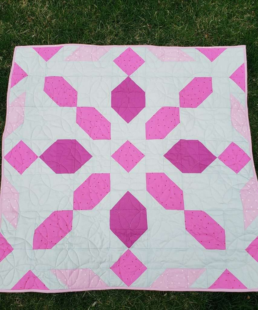 Baby Size Connector Quilt, Connector Quilt Kit, vibrant color baby quilt, mashe modern, online fabric shopping