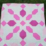 Pink and Grey Baby Size Connector Quilt