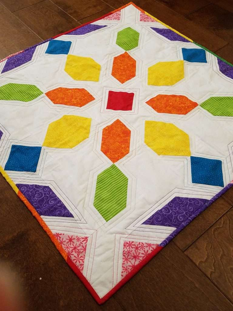 Rainbow Baby Size Connector Quilt, Rainbow Baby Quilt