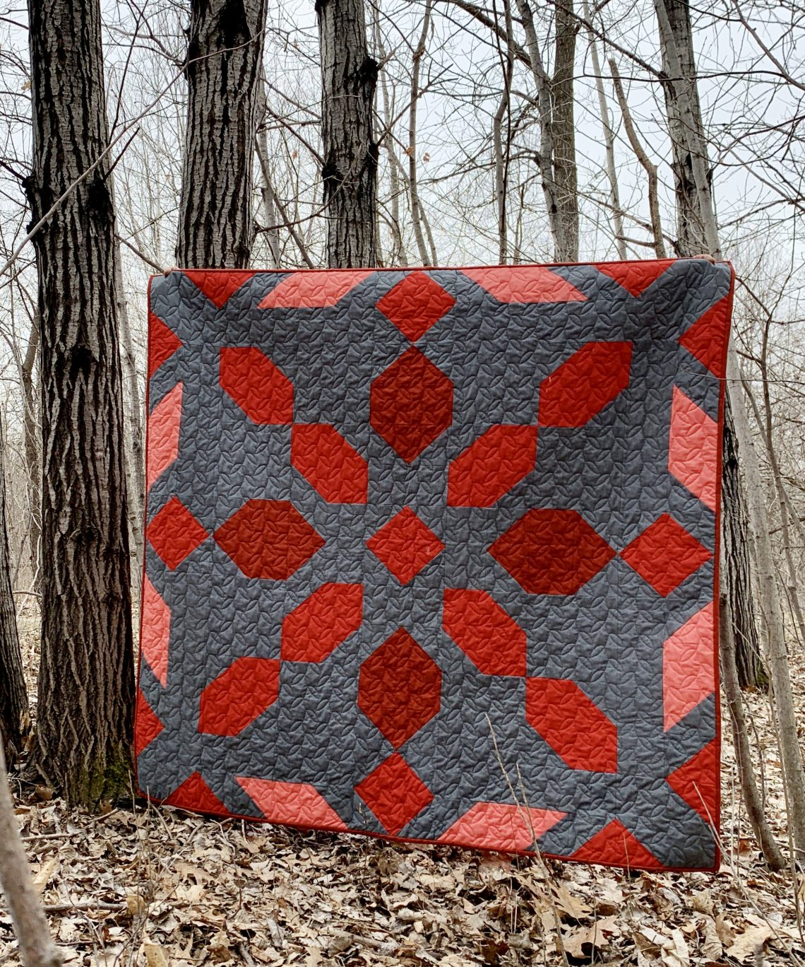 Rosie Girl Quilting Red Lap Size Quilt