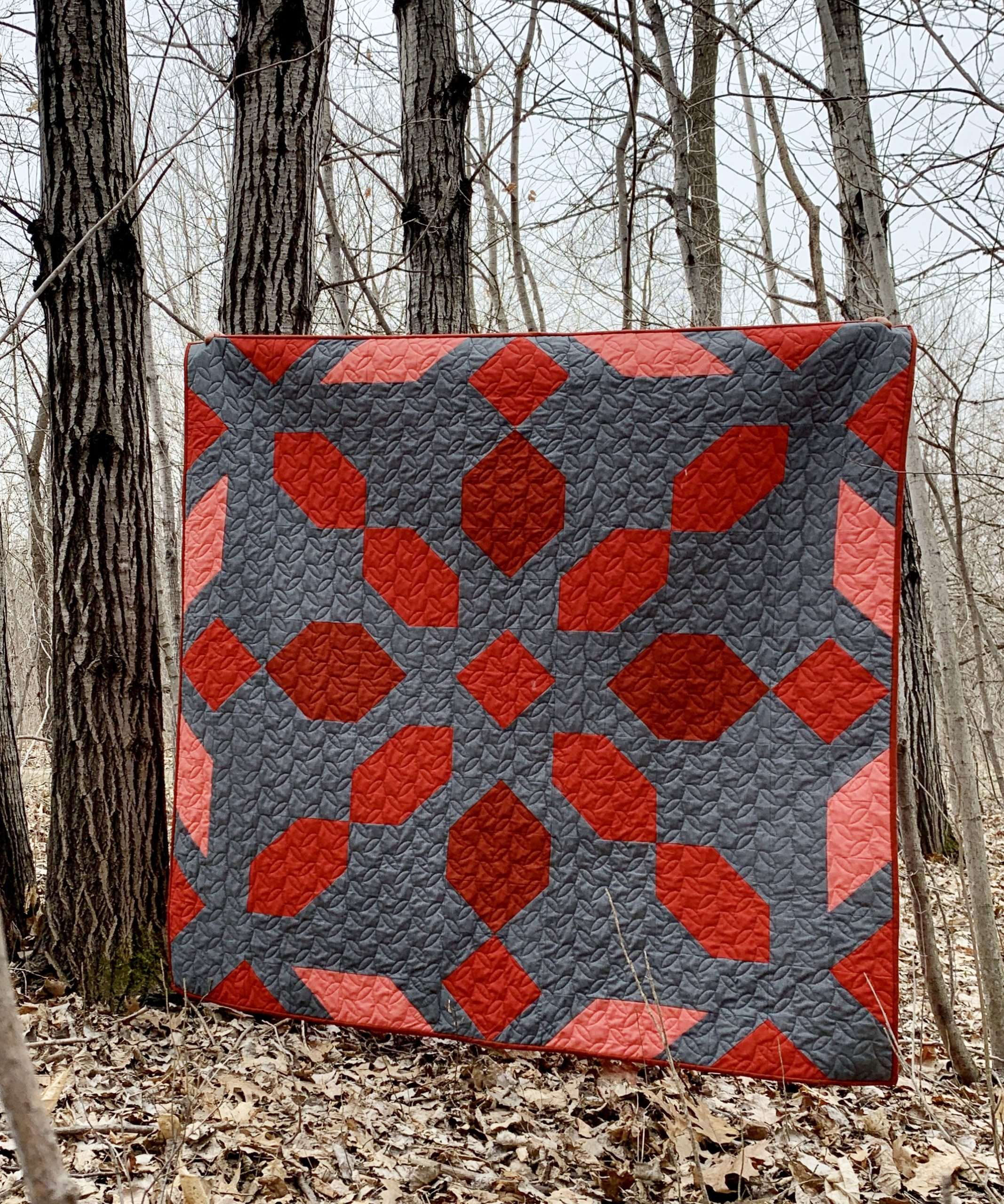 Rosie Girl Quilting Red Lap Size Connector Quilt