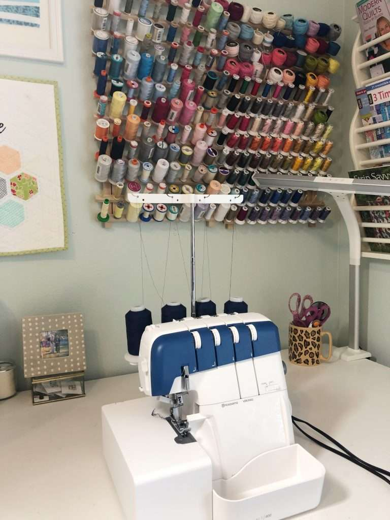 Getting started with a serger, how to use a serger, get started serging, how to use an overlock machine, how to create a finished edge while sewing, sewing tips and tricks, sewing machines, husqvarna viking, amber air threaded sewing machine, air threaded serger