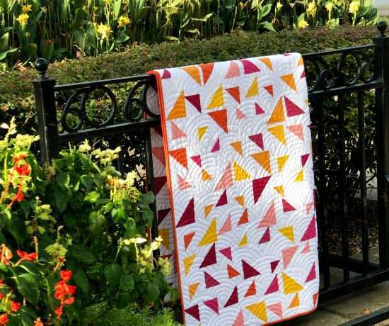 Throw Size Triangular Quilt Pattern