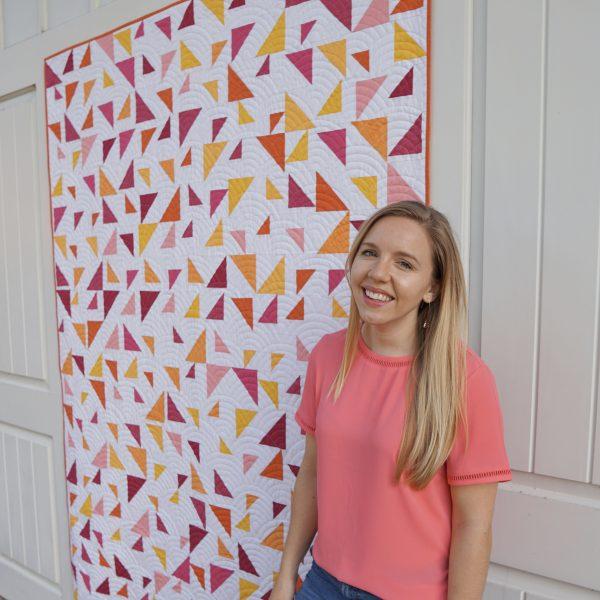 Throw Size Triangular Quilt Pattern