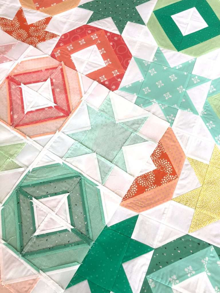 AccuQuilt String Quilt Blocks, angles companion qube, chain sewing, modern quilting, learning to quilt, 2 block quilt, how to use accuquilt, free quilting tutorials, modern quilt pattern
