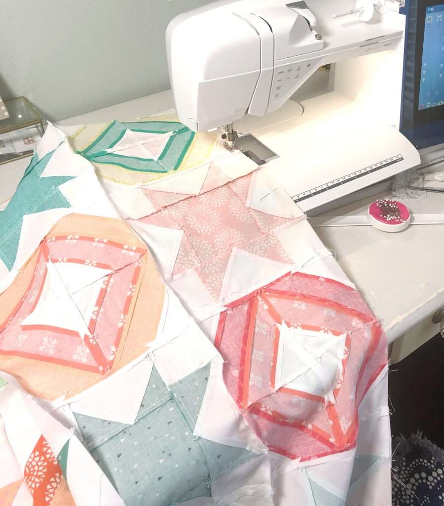 AccuQuilt angles companion qube, modern quilting, learning to quilt, how to use accuquilt, free quilting tutorials, modern quilt pattern, 2 block quilt, cutting fabric with accuquilt, how to cut fabric for quilting, making a quilt top, piecing a quilt