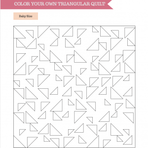 Triangular Quilt Pattern Coloring Page