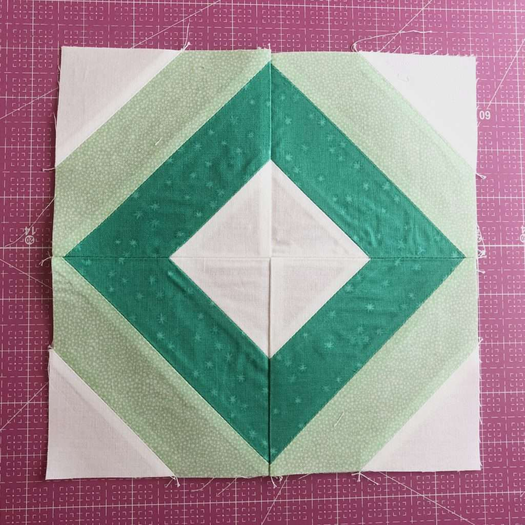 modern quilt block, modern string quilt block, learn to quilt, how to use accuquilt, angles companion set, Cube companion, quilt block with angles