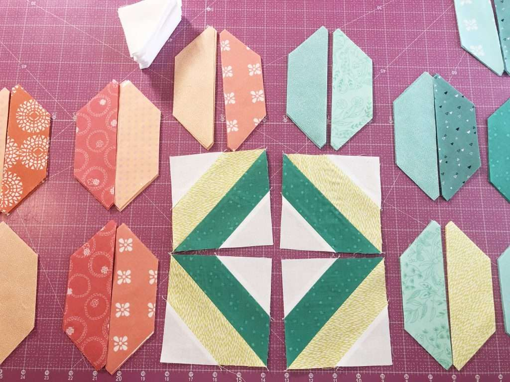 AccuQuilt String Quilt Blocks, angles companion qube, chain sewing, modern quilting, learning to quilt, how to use accuquilt, free quilting tutorials, modern quilt pattern