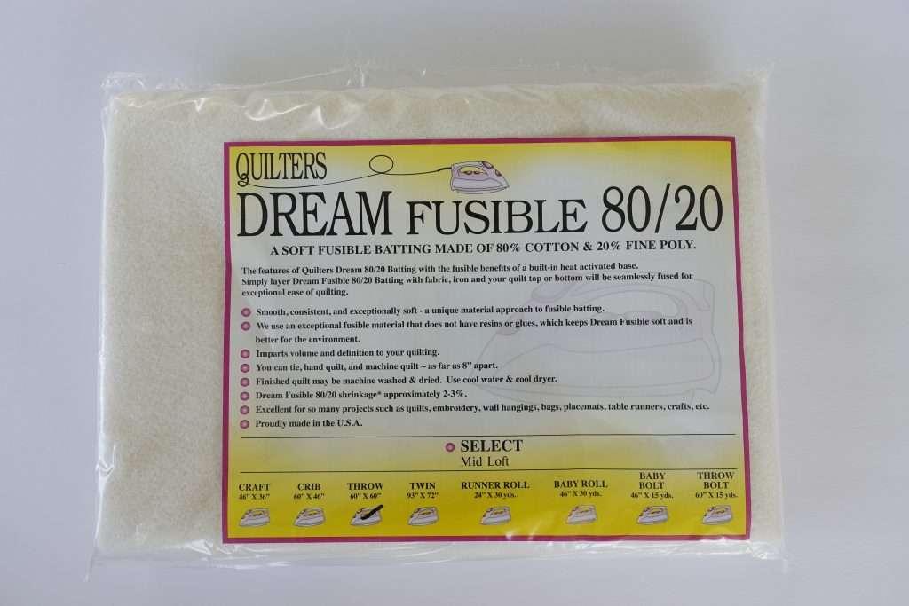 fusible quilt batting, quilters dream batting, 80/20 blend quilt batting