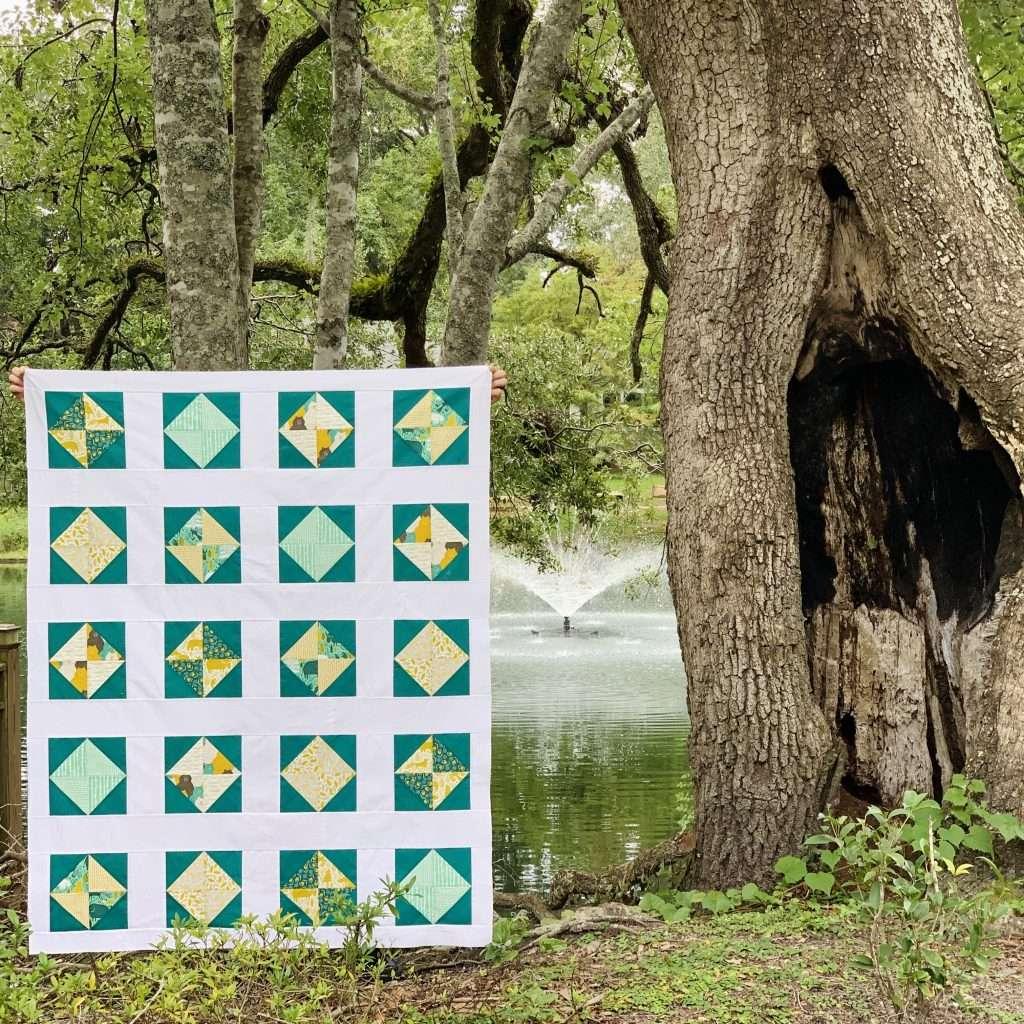 Lap Size solitaire quilt