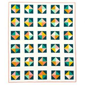 Solitaire Quilt Pattern easy beginner half square triangles