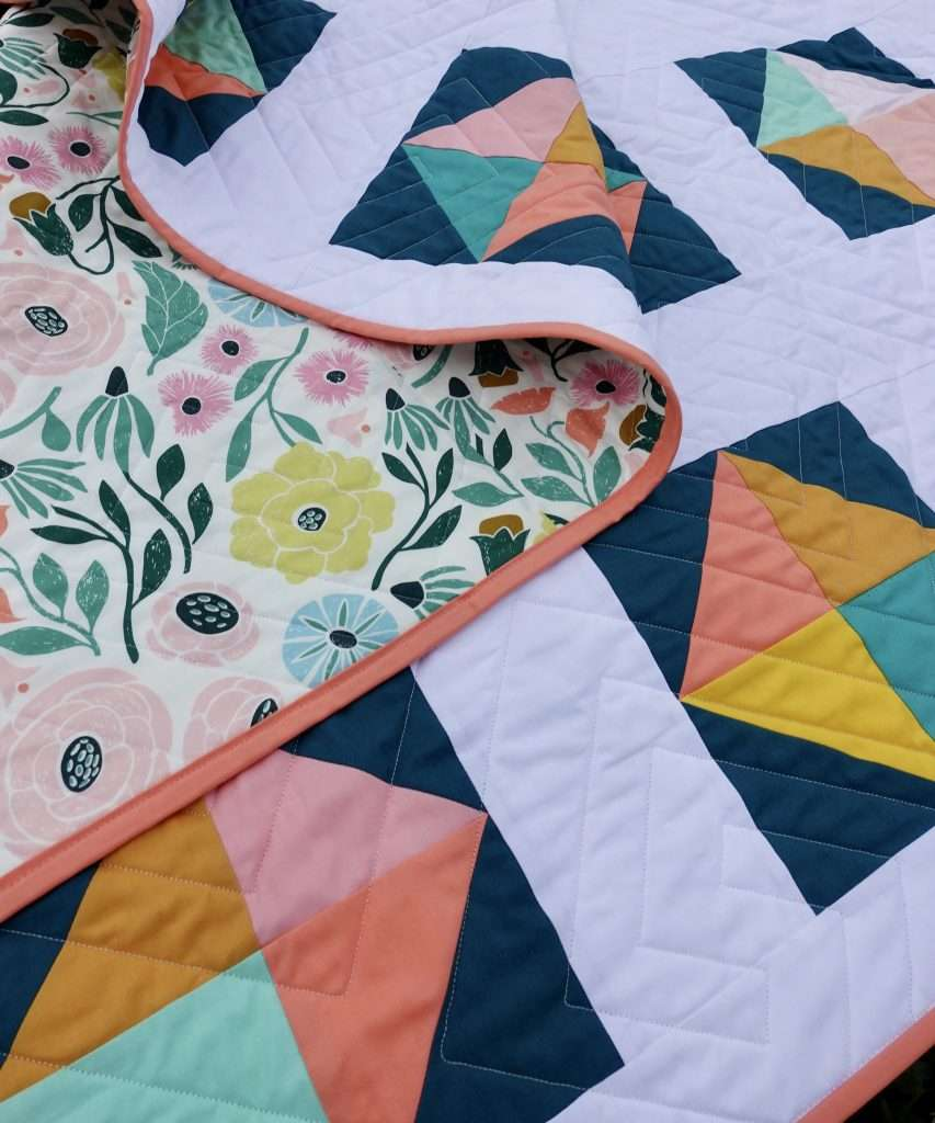 Throw size floral summer quilt easy