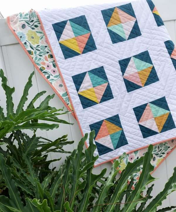 tropical quilt easy beginner solitaire quilt pattern