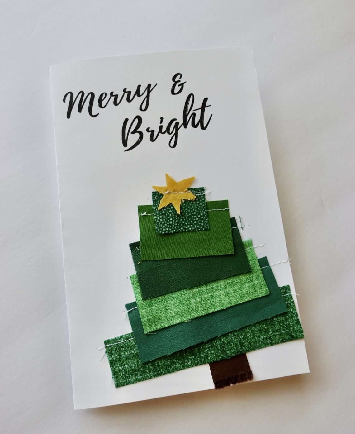 Make Your Own Scrappy Fabric Christmas Card Homemade Emily Jane