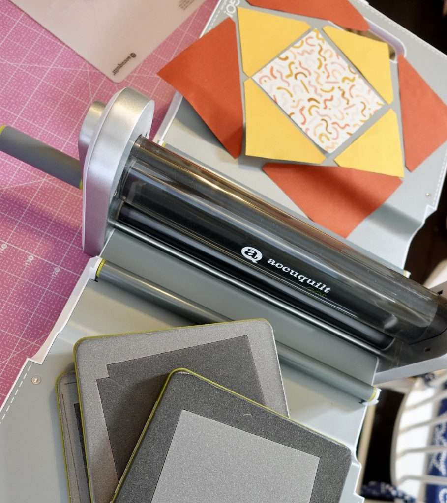 Economy Quilt Block step by step tutorial to make your own quilt. This Economy Quilt block uses the AccuQuilt fabric cutting machine to make the process easy & precise!