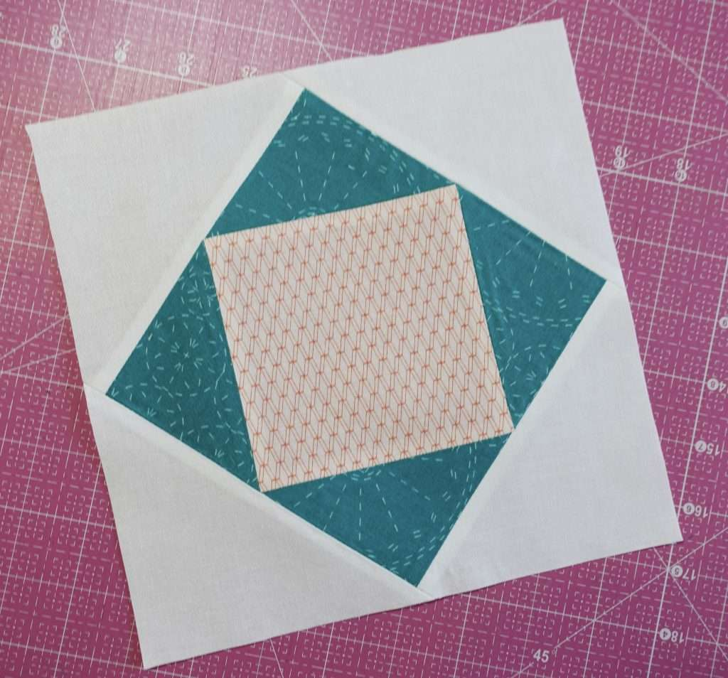 Economy Quilt Block tutorial for sewing square in a square quilt block and calculating different quilt block sizes