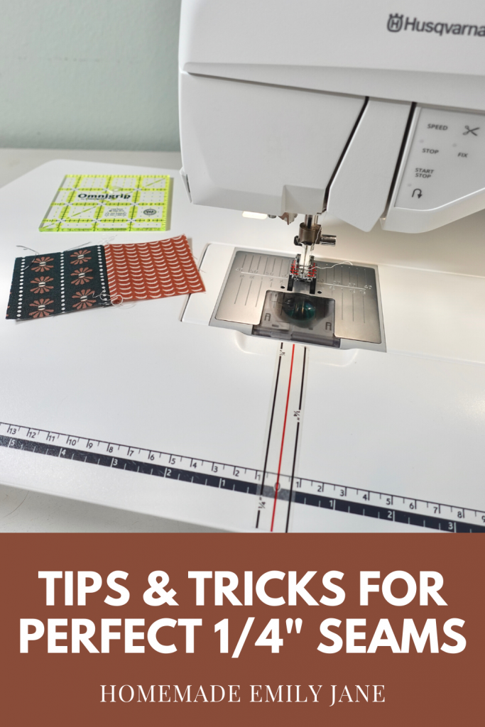 Patchwork and piecing require an immense amount of precision, especially when it comes to sewing a perfect quarter inch seam for quilting! These tips will help you learn how to get an accurate seam allowance for quilting projects every time. Once you work through these steps once, you should be good to go for perfect seams, and you'll know exactly how to check them if you're ever unsure.