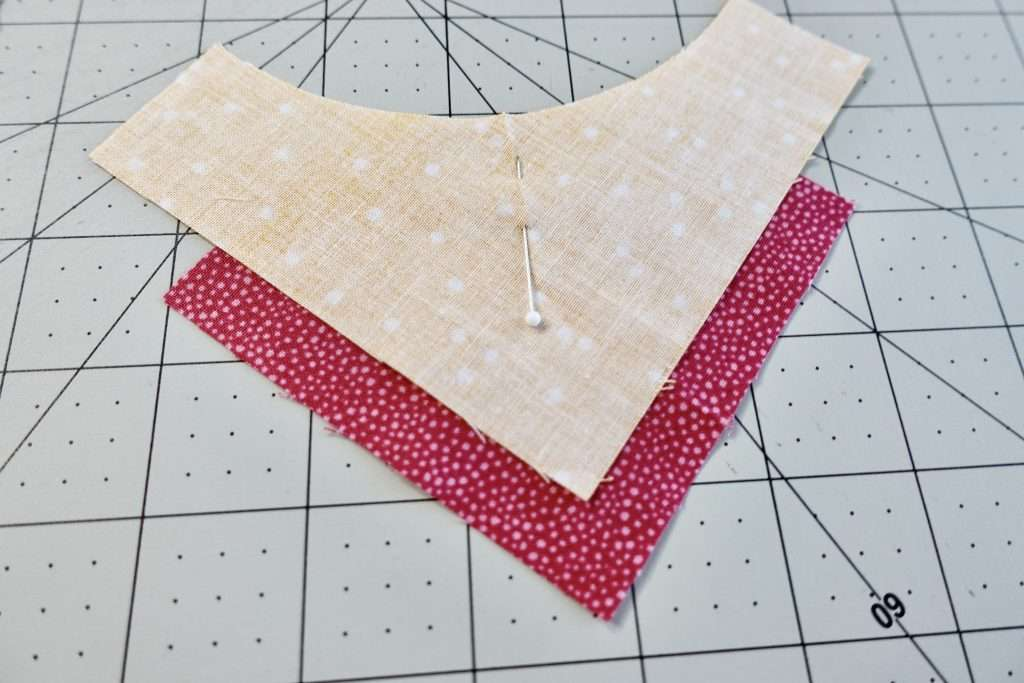how to pin curved pieces of fabric together
