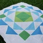 easy modern baby boy quilt pattern, geometric quilt pattern by homemade emily jane, paradigm quilt pattern, connecting threads fabrics using spritz tonal blenders and basic quilting cotton