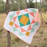 easy modern baby quilt pattern, geometric quilt pattern by homemade emily jane, paradigm quilt pattern
