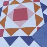 Paradigm quilt pattern, throw size easy modern quilt pattern