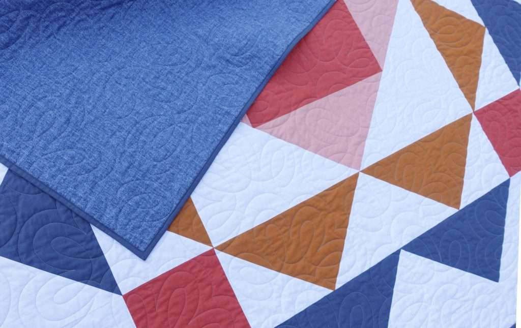 modern flying geese quilt pattern, the paradigm quilt pattern by homemade emily jane