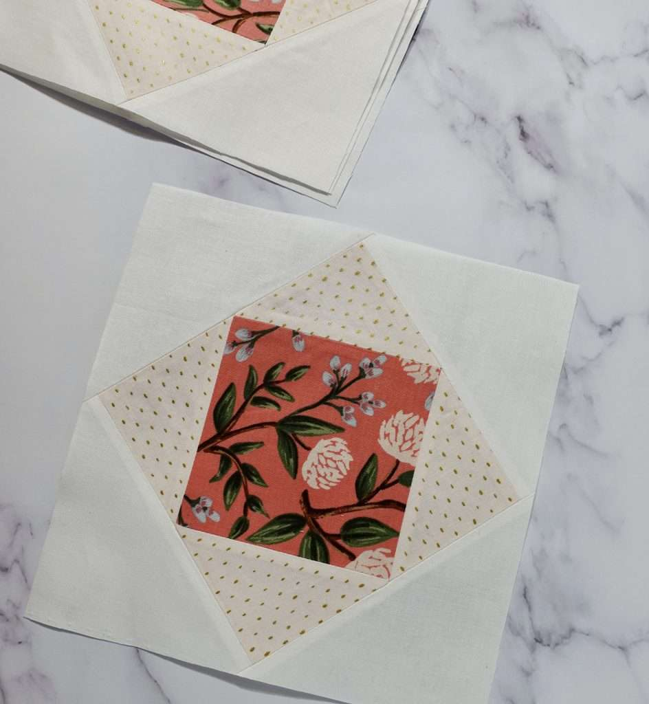 floral quilt block