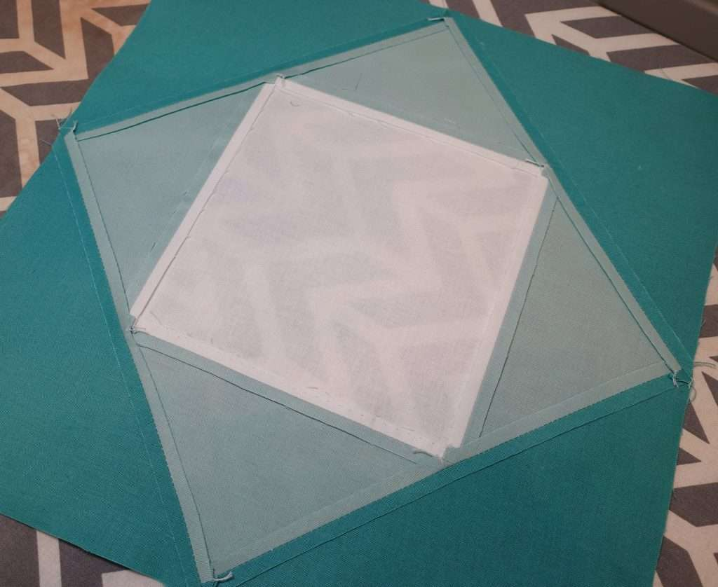 Economy Quilt Block with seams pressed open