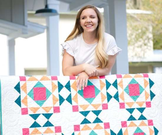 modern block based quilt pattern Sprightly quilt pattern by Homemade Emily Jane