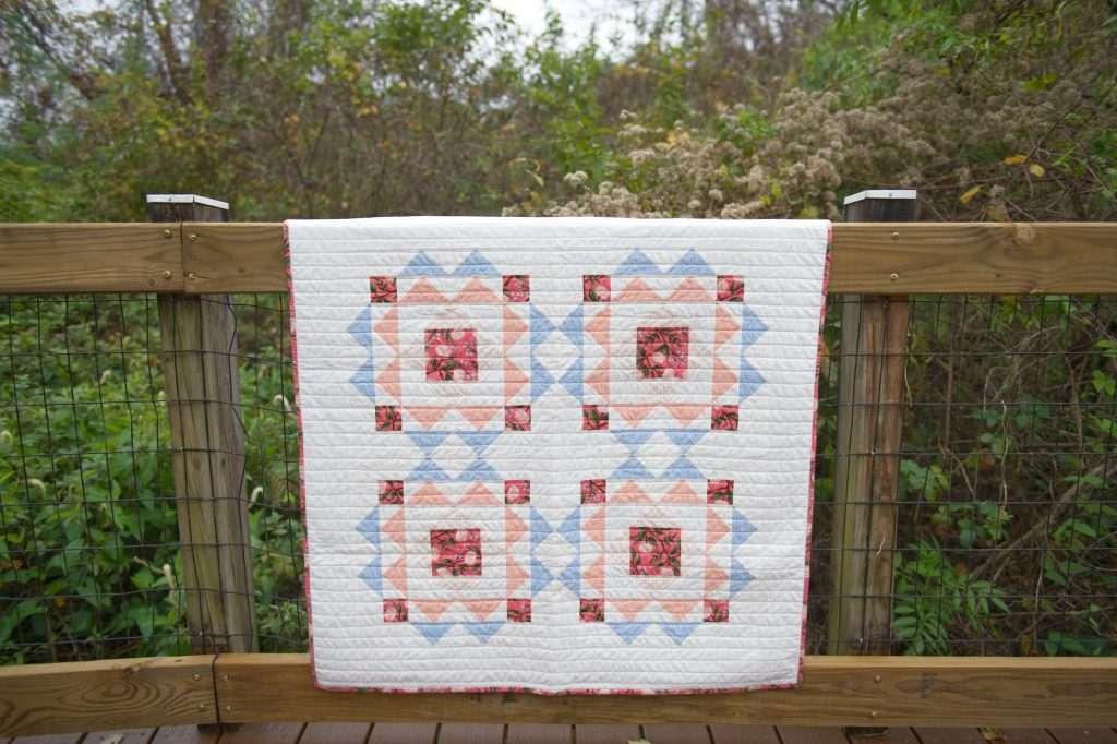 sprightly quilt pattern, modern baby quilt pattern, modern geometric baby quilt