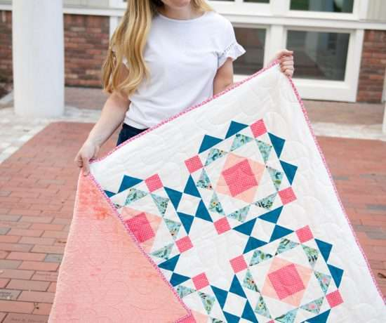 homemade emily jane sprightly floral quilt