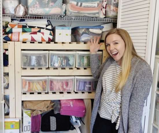 organize your sewing room closet with this foolproof process