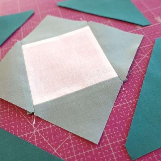 square in a square quilt block tutorial
