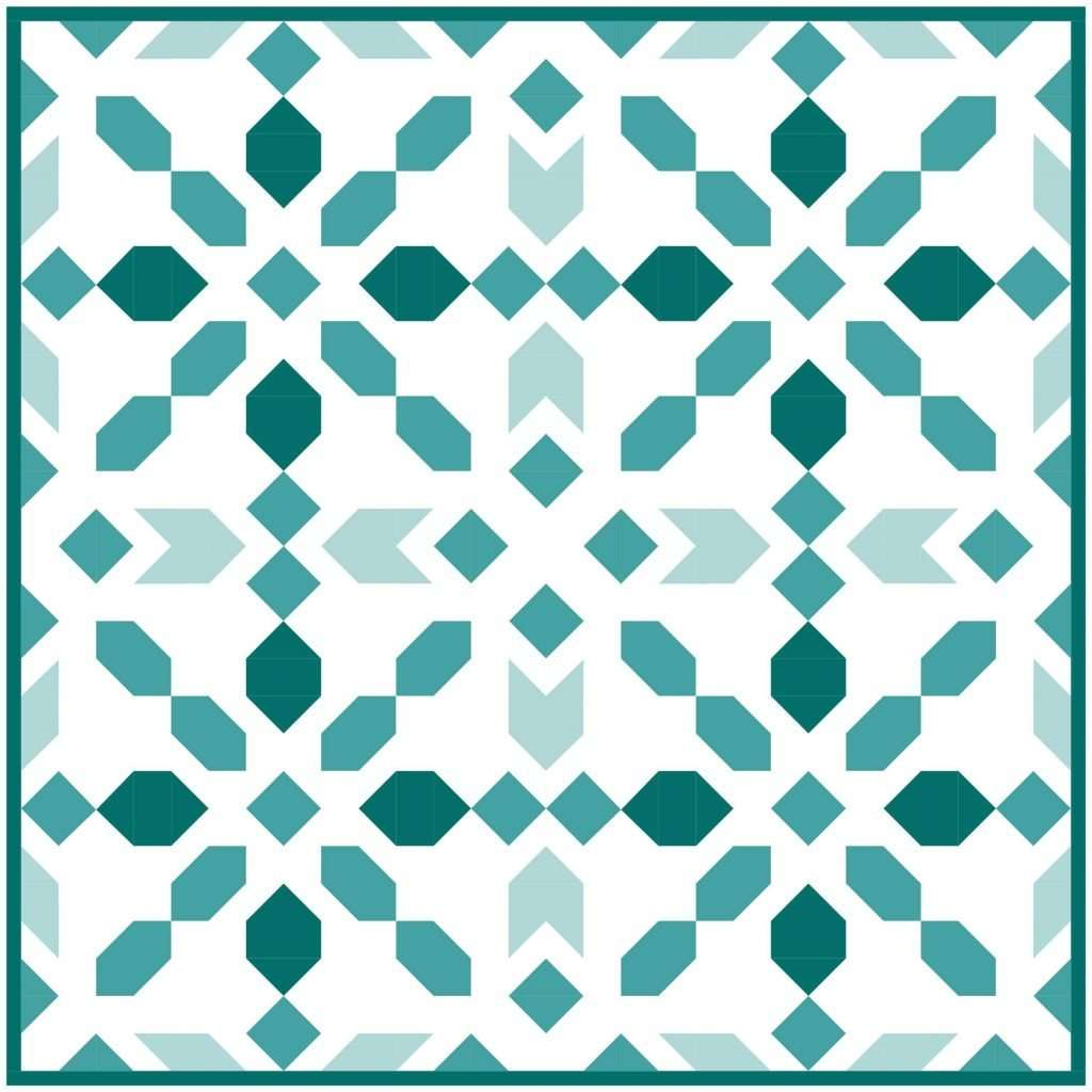 Connector Teal quilt kit Sewcial Stitch