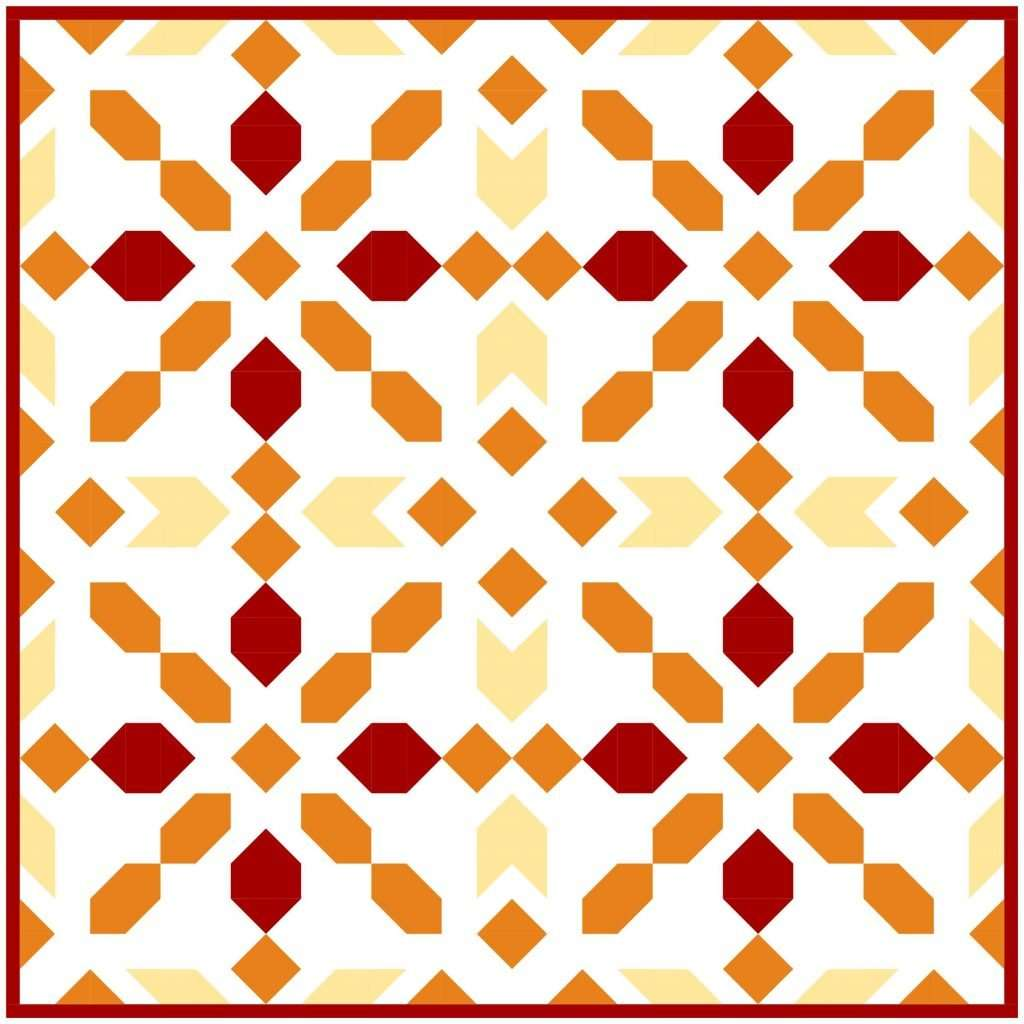 Connector warm orange quilt kit Sewcial Stitch
