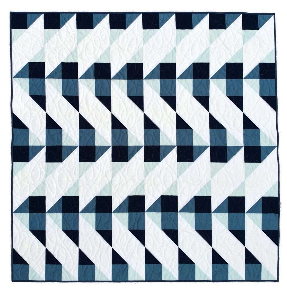 gingham quilt pattern Cirrus quilt featuring solid quilting cotton fabrics