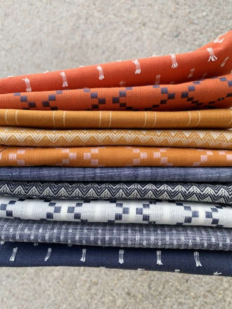 warp and weft fabric bundle for sail quilt