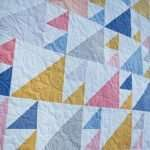 Throw size Sail Quilt Pattern made with solids from PBS Fabrics