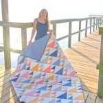 modern throw size sail quilt