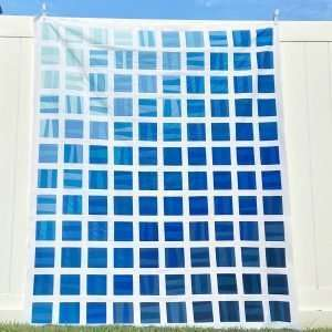 Throw size Quilt kit to make Ombre Block Stratus quilt