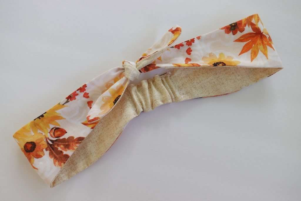 How to make a custom AccuQuilt Die for any sewing project, like this fabric knotted headband!