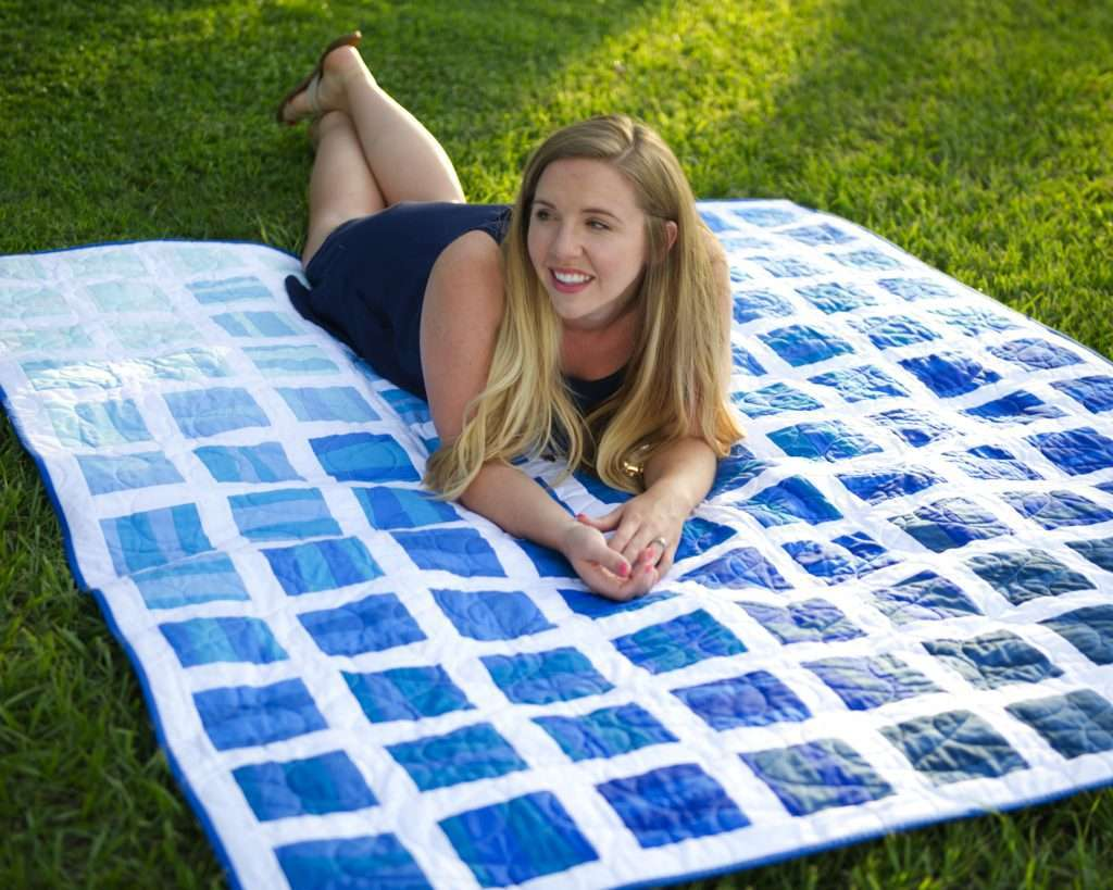 The Stratus Quilt Pattern by Homemade Emily Jane is the perfect easy improv quilt pattern for using wonky strips - and it even includes Ombre quilt layout option too!